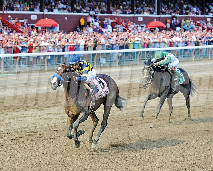 Contested captures the 2012 Grade I Test Stakes at Saratoga Race Course.