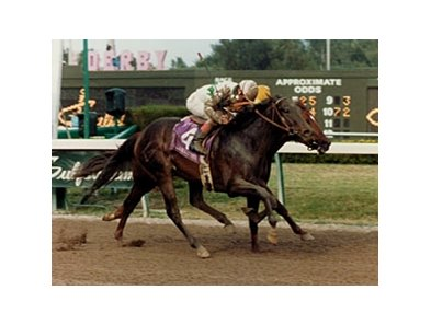 "Brian's Time winning the 1988 Florida Derby.<br><a target=""blank"" href=""http://photos.bloodhorse.com/Classics/Classic-Photos/22651042_hrMBZZ#!i=2440909552&k=C9T8wGC"">Order This Photo</a>"