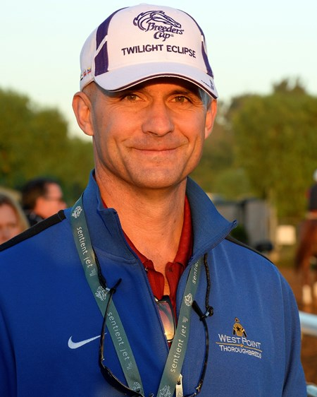Caption:  Terry Finley with West Point Thoroughbreds and Twilight Eclipse