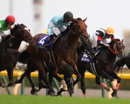 Spielberg, a half brother to U.S. grade I winner and Central Kentucky sire Flower Alley, flew by dueling front-runners Isla Bonita and Gentildonna late and narrowly won the Tenno Sho (Autumn) (Jpn-I) at Tokyo Racecourse in Japan.