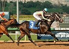 Conquest Two Step won the Palos Verdes by 1 1/4 lengths.