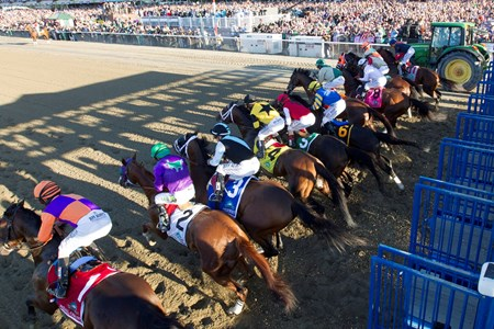 And they're off in the Belmont Stakes, third jewel of the Triple Crown.