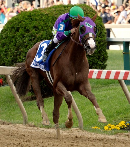 California Chrome was three lengths clear at the furlong mark from Social Inclusion. The only competitor with a shot in the final eighth of a mile was Ride On Curlin, who rallied from ninth early under Joel Rosario in a quality effort.