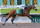 Mucho Macho Man wins the 2011 Risen Star Stakes at Fair Grounds Race Course