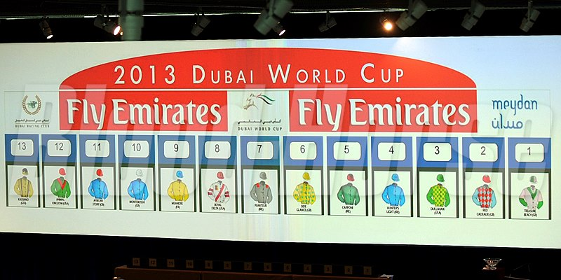 The Dubai World Cup field.