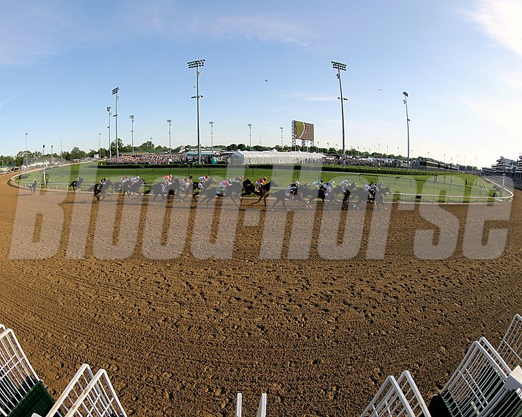 After six furlongs in 1:11.80, California Chrome, always in contention while racing between horses, eased to Uncle Sigh and Chitu without being asked. Intense Holiday, Danza, Vicar's in Trouble, and Tapiture made headway, but once Espinoza asked California Chrome at the head of the lane after a mile in 1:37.45, he exploded. He opened up a five-length lead at the eighth pole and won geared down with Espinoza waving his stick to the crowd.