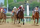 Untapable covered the 1 1/8 miles in 1:48.68, just .04 of a second off the stakes record set in 2003 by Bird Town.