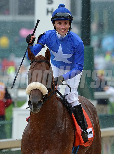 Berlino Di Tiger with jockey Leandro R. Goncalves wins the 19th running of The Twin Spires Turn Sprint at Churchill Downs in Louisville, Kentucky May 3, 2013.