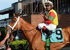 Jockey Luis Saez had 5 winners on May 31 at Belmont Park.