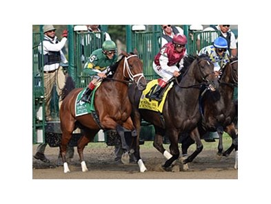 Centring (right) has placed in three grade I races this year in New York.