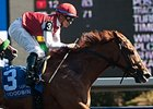Unspurned won the Whimsical Stakes by a length on April 18.