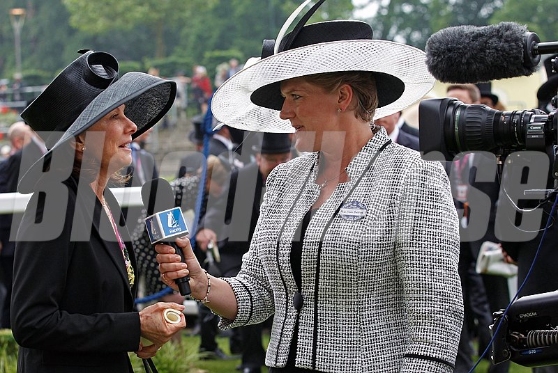 Claire Balding interviews Lady Jane Cecil following the Ribblesdale Stakes, won by Riposte June 20, 2013.