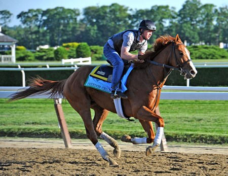 West Point Thoroughbreds Freedom Child,at Belmont Wednesday morning...
