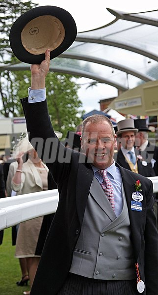 Clive Cox, trainer of Lethal Force, following the Diamond Jubilee Stakes.