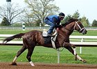 Carpe Diem working at Keeneland on April 18.