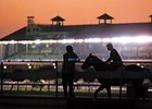 Early morning at Fair Grounds; the 136th season of racing in New Orleans begins Thanksgiving day.