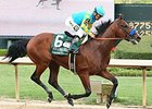 American Pharoah wins the Arkansas Derby.