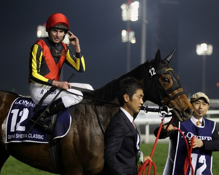 Checked twice in the final 250 meters, Japan's star mare Gentildonna showed just what she's made of March 29 in wearing down Cirrus des Aigles and winning the $5 million Dubai Sheema Classic Presented by Longines (UAE-I) in a course-record time at Meydan Racecourse.