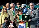 Brereton Jones (left, green tie) after Lovely Maria's win in the Ashland Stakes.