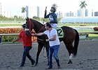 Captain Stan, ridden by Javier Castellano, captured a win for White Wabbit Wacing at Gulfstream Park on Feb. 8. White Wabbit Wacing holds a narrow lead over two-time defending champions Ken and Sarah Ramsey in the competition for leading owner. <br><a tar