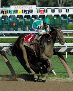 Royal Delta with jockey Jose Lezcano in the saddle blew away the field to win the 131st running of the Alabama Stakes.