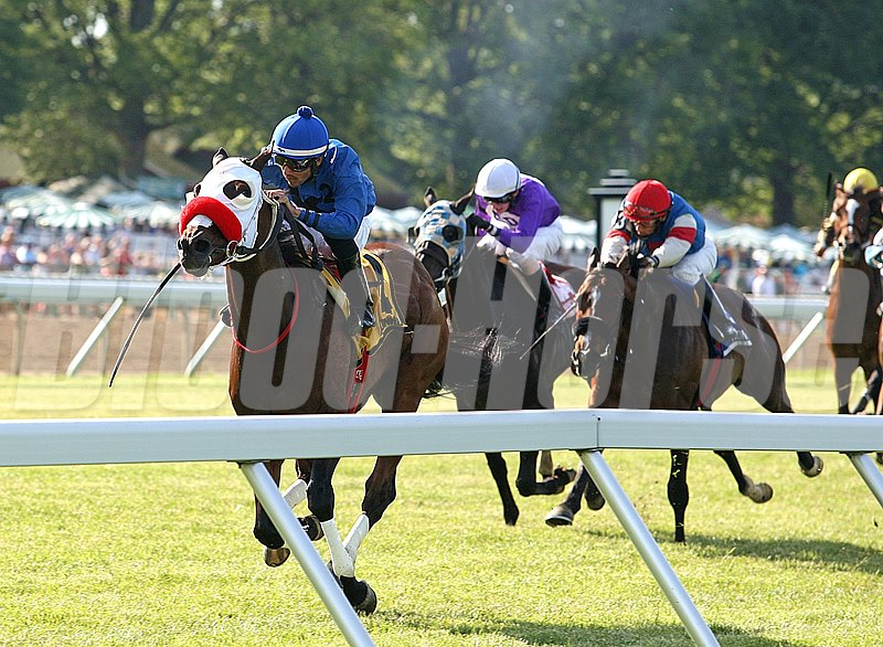 Silent Appeal #4 with Eddie Castro riding captures the Dan Horn Handicap at Monmouth Park in Oceanport, New Jersey.