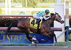 "Merry Meadow has won 3 in a row.<br><a target=""blank"" href=""http://photos.bloodhorse.com/AtTheRaces-1/At-the-Races-2015/i-m7gLk9Q"">Order This Photo</a>"
