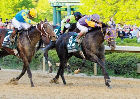 Archarcharch winning the 2011 Arkansas Derby.