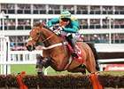 Cole Harden wins the Ladbrokes World Hurdle at the Cheltenham Festival.
