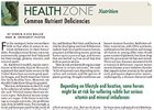 Health Zone: Common Nutrient Deficiencies