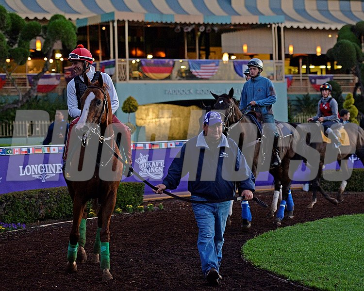 Caption:  Alan Sherman schools California Chrome