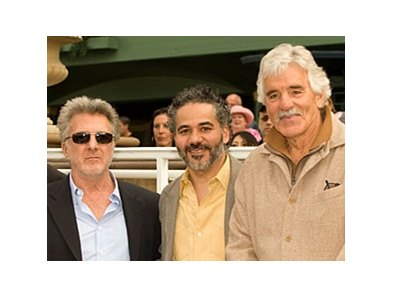 "Some of the cast of ""Luck"" (including Dustin Hoffman, left) at Santa Anita."