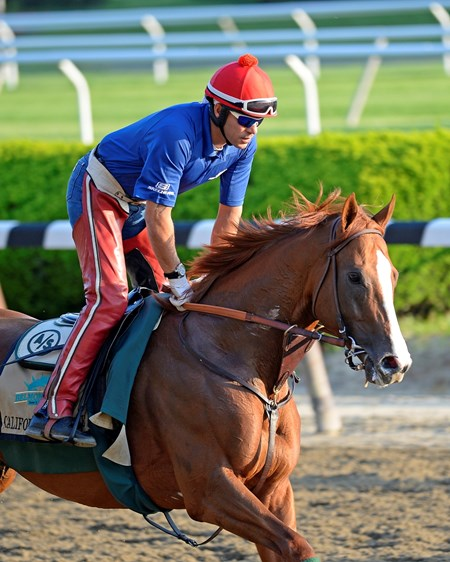 Caption: California Chrome with Willie Delgado