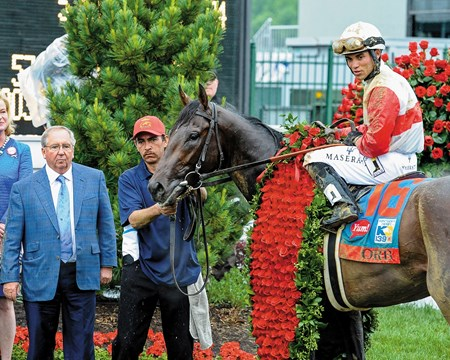 Caption:  Orb with Shug McGaughey, left.