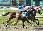 "International Star shakes off Stanford to win the Louisiana Derby. <br><a target=""blank"" href=""http://photos.bloodhorse.com/AtTheRaces-1/At-the-Races-2015/i-zWKD6MF"">Order This Photo</a>"