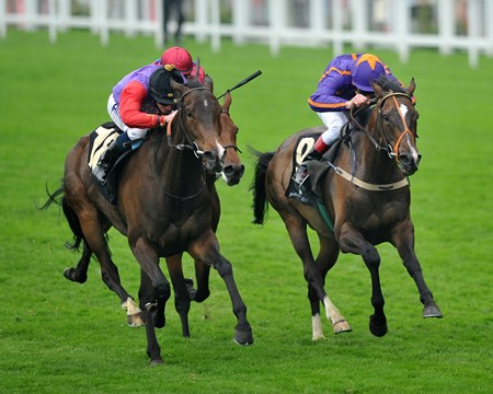 Estimate, Ryan Moore up, wins the Gold Cup, at Royal Ascot.