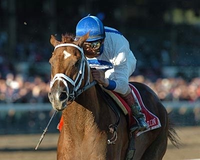 Lawyer Ron, John Velazquez aboard, wins the Woodward Stakes.