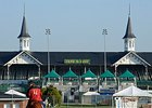 The Twin Spires at Churchill Downs.