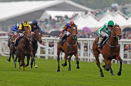 War Command, ridden by Seamie Heffernan, wins the Coventry Stakes June 18, 2013.