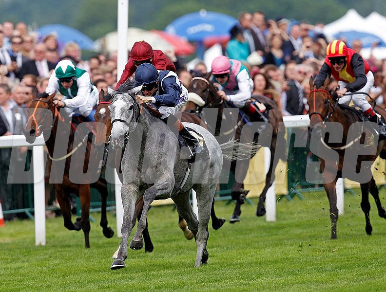 Sky Lantern charges ahead of the field to win the Coronation Stakes at Royal Ascot.