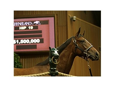 A $1.5 million Medaglia d'Oro filly from the Gainesway consignment led lively trade Sept. 9 at the Keeneland September yearling sale's opening session.