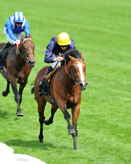 Hillstar, Ryan Moore up, wins the King Edward VII Stakes on June 21, 2013.