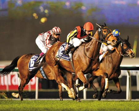 Checked twice in the final 250 meters, Japan's star mare Gentildonna showed just what she's made of in wearing down Cirrus des Aigles and winning the $5 million Dubai Sheema Classic Presented by Longines (UAE-I) in a course-record time at Meydan Racecourse.