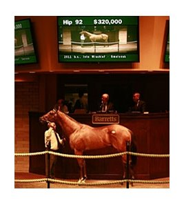 Hip 92, a colt by Into Mischief, out of the Danzig mare Smolensk, brought a final bid of $320,000.