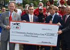 NYRA presented $15,000 to the Permanently Disabled Jockeys Fund in the name of Ramon Dominguez.