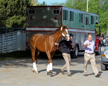 Caption:  Giant Finish arrives at Churchill