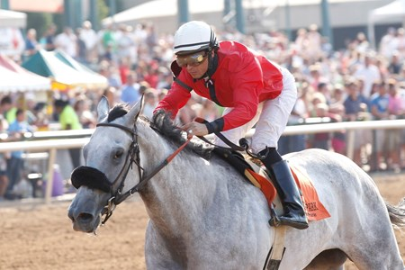 Lasting Bubbles wins the Valor Farm Stakes at Lone Star Park in Grand Prairie Texas.