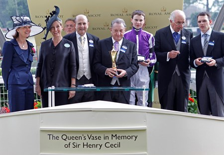 The Queen's Vase in Memory of Sir Henry Cecil presentation.