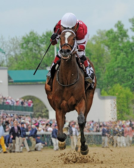 Untapable with Rosie Napravnik in the irons wins the 140th running of The Kentucky Oaks May 2, 2014 at Churchill Downs in Louisville, Kentucky