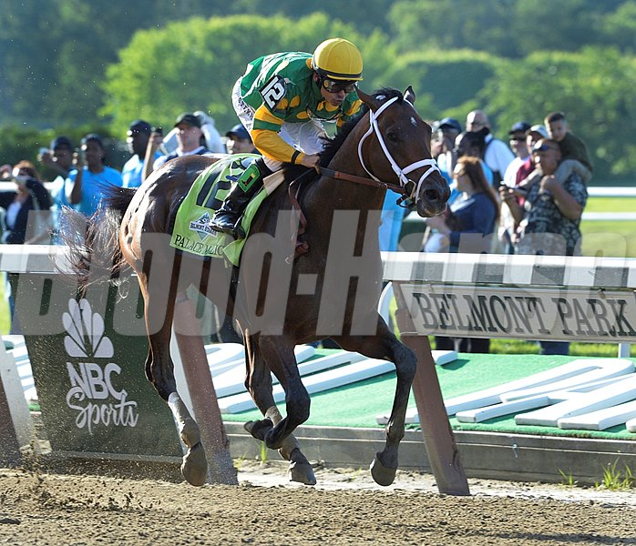 Palace Malice ridden by jockey Mike Smith wins the 145th running of The Belmont Stakes June 8, 2013 at Belmont Park in Elmont, N.Y.  (Skip Dickstein)